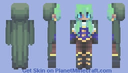 Beware, the Daughter of the Sea Minecraft Skin