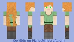 Alex (But Much Better) Minecraft Skin