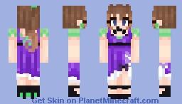 ~- Purple Ribbons -~ / / / PMC PROM 2021 Minecraft Skin