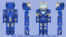 Iron Man Mark 30 (Blue Steel) | MCU Minecraft Skin