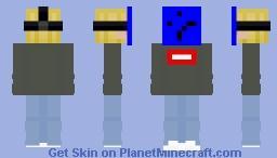 blonde boy with mask Minecraft Skin