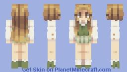 Green plaid skirt Minecraft Skin