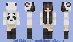 ღ 𝒜𝑒𝓈𝓉𝒽𝑒𝓉𝒾𝒸 𝒫𝒶𝓃𝒹𝒶 𝒢𝒾𝓇𝓁 ღ Minecraft Skin