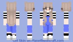 Girl overalls Minecraft Skin