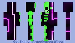 Neon Lights & Glowing Bones Minecraft Skin