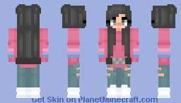 E-Girl with Naruto Headband around waist Minecraft Skin