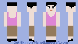 middle-aged female gen - asian - character model in Saints Row 2 Minecraft Skin
