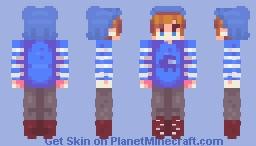 Blue Among Us Guy - RQ Minecraft Skin