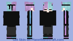 violet & teal androgynous Minecraft Skin