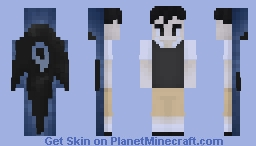 """Sunny Looking in Mirror / """"Something"""" Behind Him -- (From Omori) Minecraft Skin"""