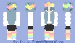 -+*: ▫️ Little Bit Of Rainbow ▫️ :*+- Minecraft Skin