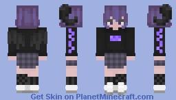 girl with sum horns Minecraft Skin