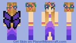 Fairy Purple flower hair Minecraft Skin