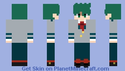 Izuku Midoriya (deku) school Minecraft Skin