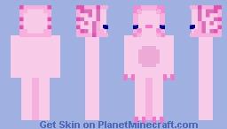 Pink Axolotl!! Minecraft Skin