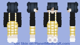 Flannel Overalls Non-Binary/Androgynous Skin Minecraft Skin