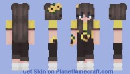 sunflower girl (genderbend of sunflower boy) Minecraft Skin