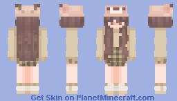 Bear girl (green) Minecraft Skin