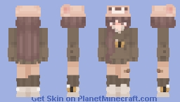 Bear girl (bee) Minecraft Skin