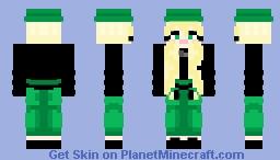 girl in green Minecraft Skin