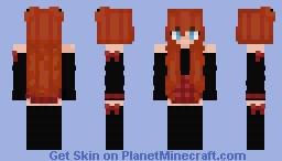 Cute Orange Hair Anime Girl Minecraft Skin