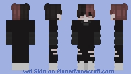 Red and Black Hair Minecraft Skin