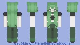 green aesthetic :') Minecraft Skin