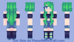 Green Haired Girl   100 Remakes! Minecraft Skin