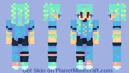 𝖺𝗊𝗎𝖺 - 𝗉𝖾𝗋𝗌𝗈𝗇𝖺 - 𝗉𝗈𝗉𝗋𝖾𝖾𝗅 Minecraft Skin