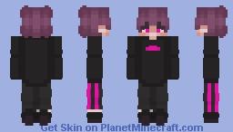 Black & Pink Boy Minecraft Skin