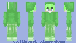 """𝕐𝕆𝕆𝕆 𝕊𝕌ℂ𝕂 𝕀𝕋 𝔾ℝ𝔼𝔼ℕ 𝔹𝕆𝕐!!""  lil green bunny!  ★Slime Bunny boy★ Minecraft Skin"