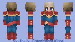 Captain Marvel - Carol Danvers || Guardians of the Galaxy Minecraft Skin