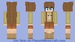 Cute Snail Farmer Girl Minecraft Skin