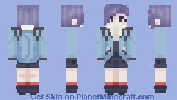 【 Touka Kirishima - Tokyo Ghoul 】 Minecraft Skin
