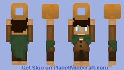 frodo Baggins holding a giant ring or cheezel or bagel. contest entry Minecraft Skin