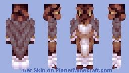Fire Salamander Minecraft Skin