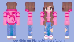 Pink Dragon Hoodie (V5?) - 1000th Submission Minecraft Skin