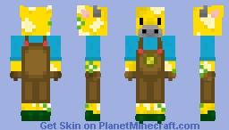 Moobloom a man Minecraft Skin