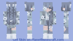 blue blossoms / ce Minecraft Skin