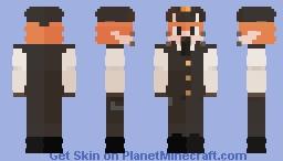 Conductor Fox Minecraft Skin