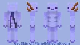 Blue Axolotl Minecraft Skin