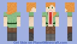 Alex Jaw Dropped Minecraft Skin