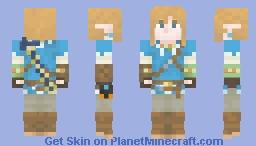 Link w/Master Sword (BotW) Minecraft Skin
