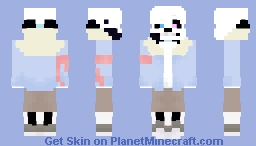 pale ink with emotions (confused) Minecraft Skin