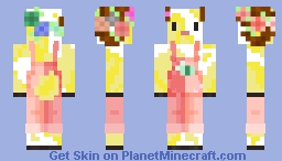 Yellow Goat - Pink Parrot Minecraft Skin