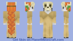 Nature Personified -- (The Cycle of Life & Death) w/ Deer Skull and Antlers Minecraft Skin