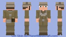 Wehrmacht Afrikakorps Feldgendarmerie Gefreiter 1941 Minecraft Skin