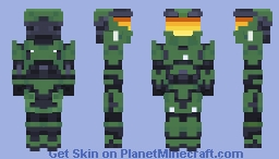 Classic Master Chief (Halo CE Mjolnir Mark V Armor) Minecraft Skin