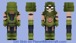 Green Arrow - Rebirth || Oliver Queen Minecraft Skin