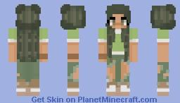 Forest Girl Minecraft Skin